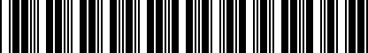 Barcode for 00V061202