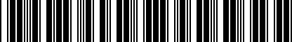 Barcode for NPN071007